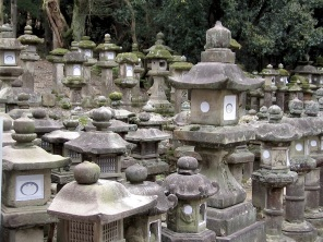 Stone laterns, Kyoto, Japan